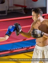 Kai is a professional boxing coach. But he's never had a student like Rina. As much as he tries to keep it professional, she's just so damn sexy. Then, one night, alone in the ring, something surprising happens. As they're sparring, Rina delivers a right hook to Kai's head and knocks him out. But when mouth-to-mouth doesn't revive him, she decides to try mouth-to-something else. And that definitely works. Soon, Kai is up and moving again, this time in-and-out of Rina. The two have a passionate, heavy love fest, right there between the ropes. Was it a dream? Was it real? It doesn't really matter to us, because we get to be ring-side right up to the final bell!